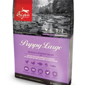 hrana orijen caini junior puppy large breed junior talie mare formula noua